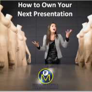 how to own your next presentation