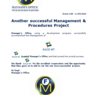 601 management procedures project